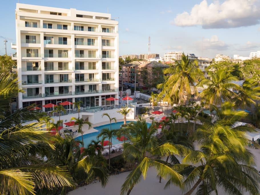 Boca Beach Residence Aerial View