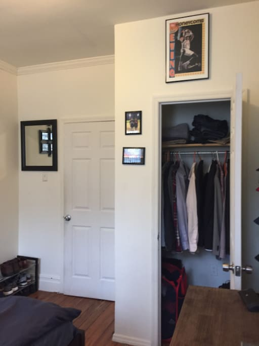 Closet Space in Private Master Bedroom