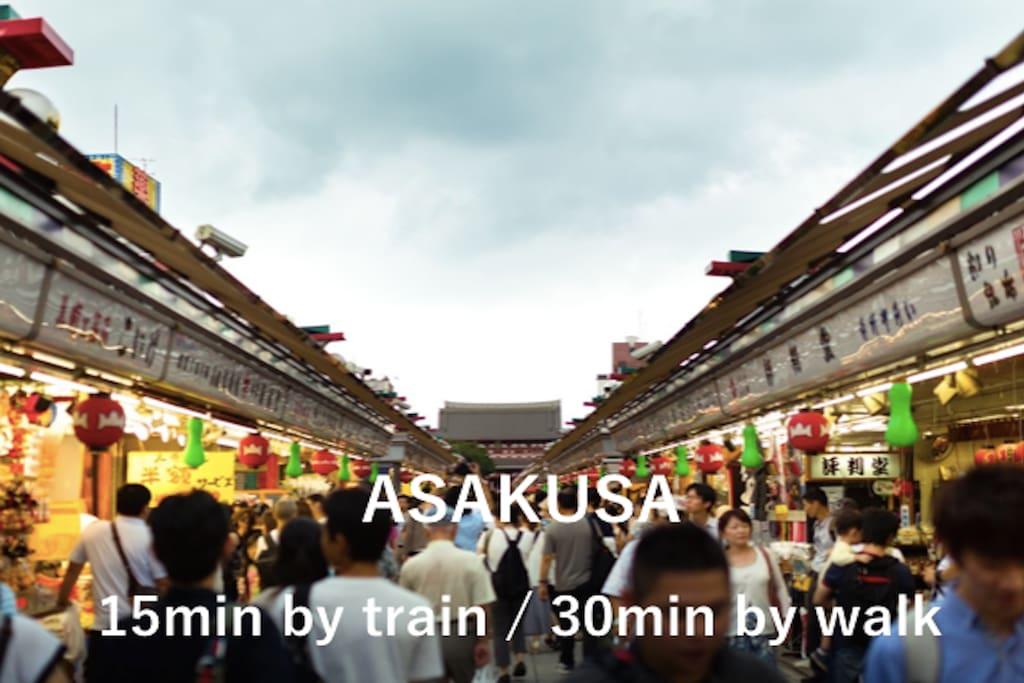 easy access to Asakusa! you can go to Asakusa by walk.