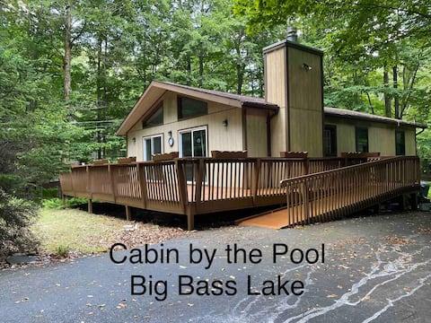 NEW! Cabin by the Pool at Big Bass Lake