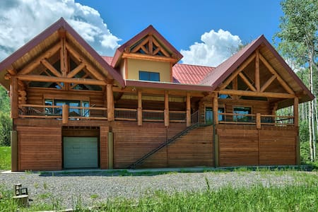 Large Vega Lake Colorado Luxury Real Log Cabin - Collbran