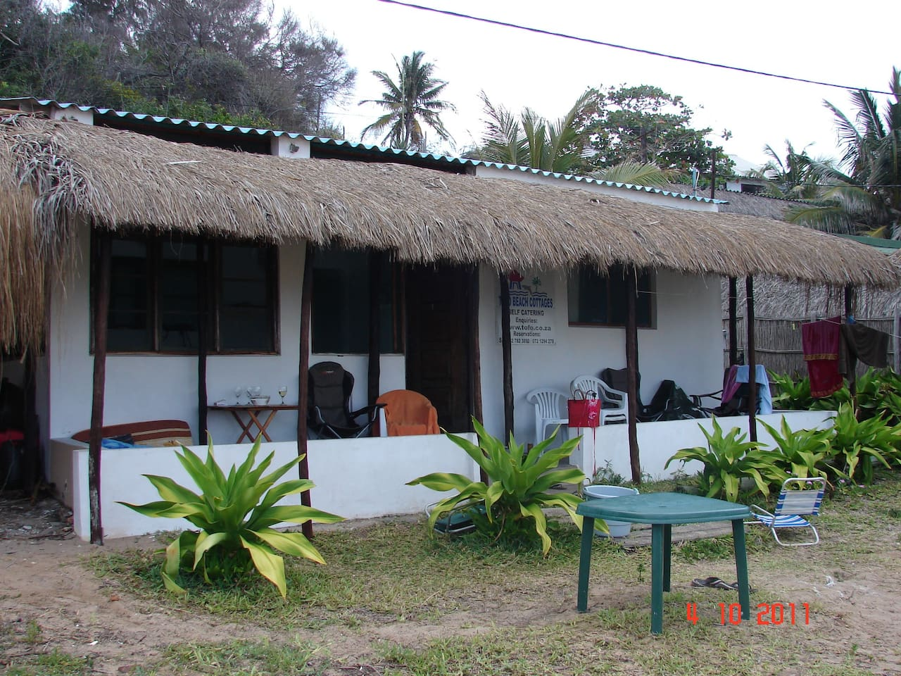Casa Derika, on Tofo Beach, lovely 2 bedroom house, self catering