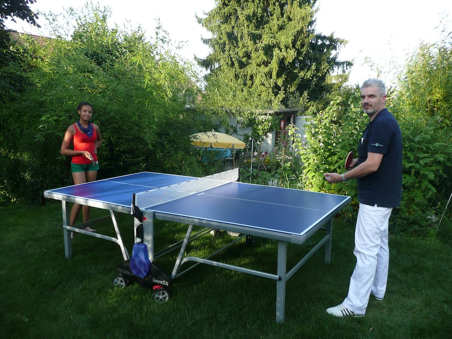 you could play table tennis in the garden