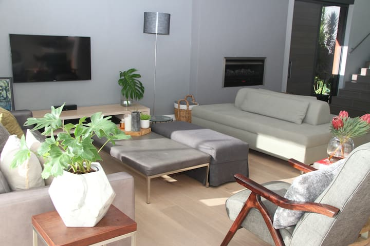 modern, spacious living room