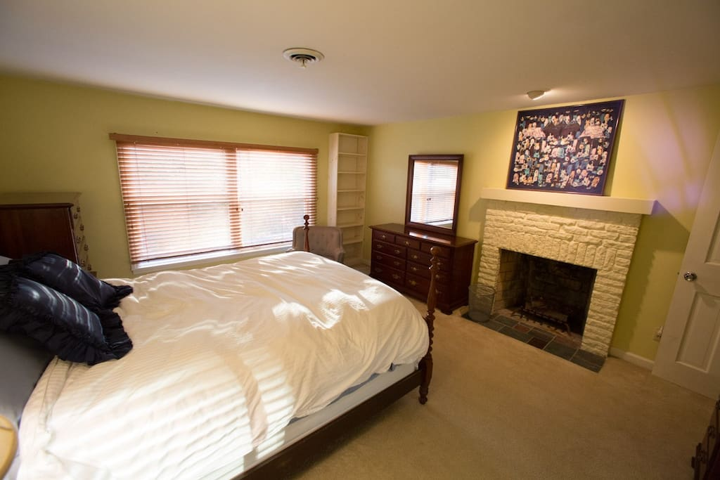 Spacious & private upstairs master suite