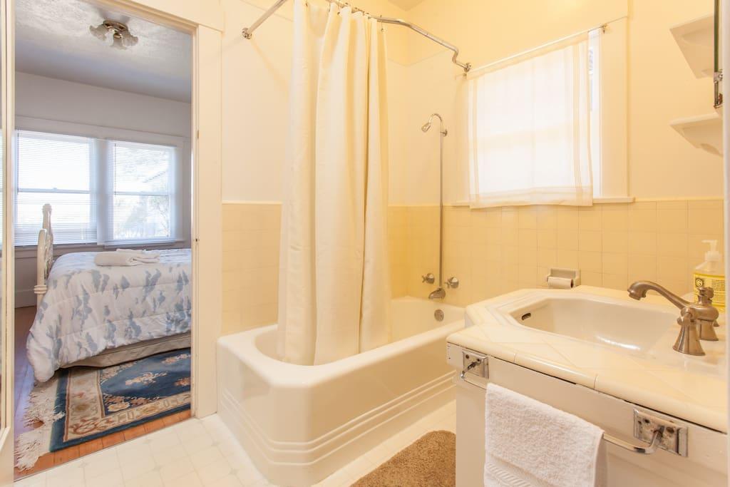 Bathroom is original Craftsman