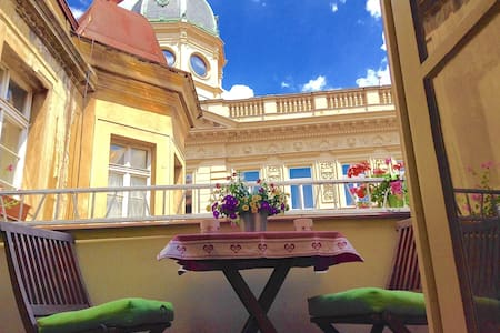 Balcony | Charles Bridge Luxurious 3-Room Apt.