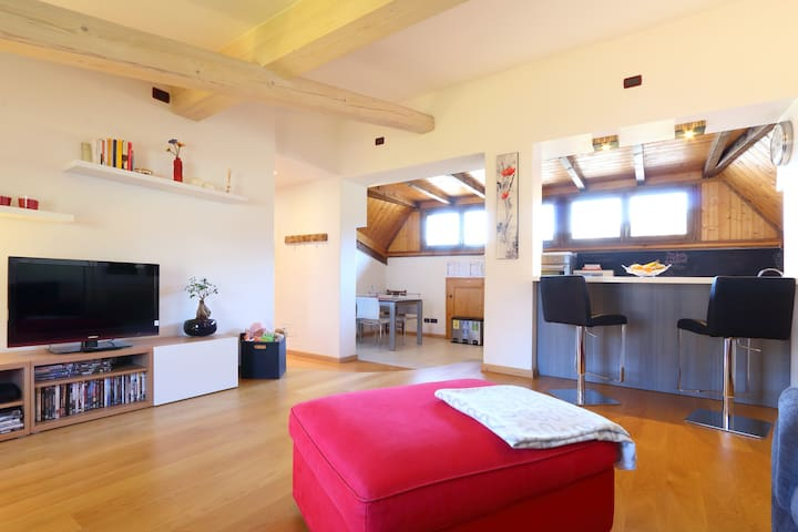 Close to town, breakfast included - Vattaro - Apartamento