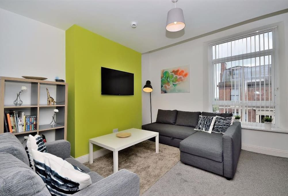 Each of the living areas comes complete with double sofa bed and large flat screen Smart TV. (Mia's Place 02)