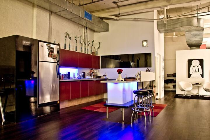 Room in an amazing 2200sq ft loft