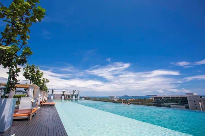 MySuite《Borneo》无敌海景泳池 Sutera Avenue 2房1卫 温馨5人套房