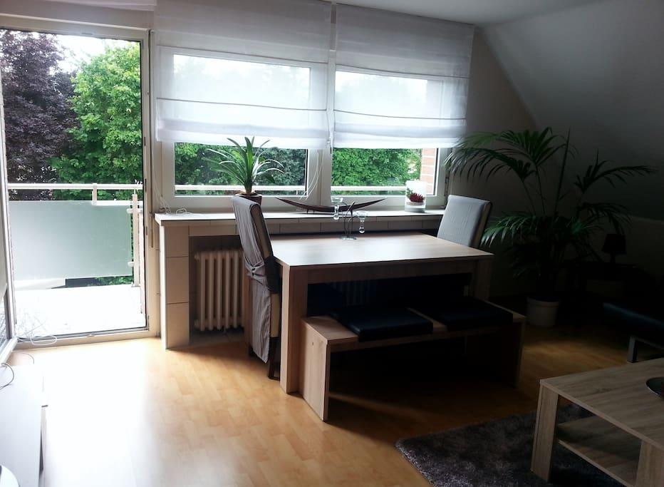 Essplatz im Wohmzimmer