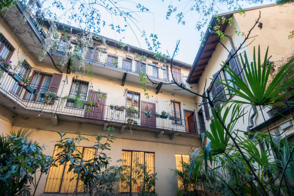the charming inner courtyard and balconies