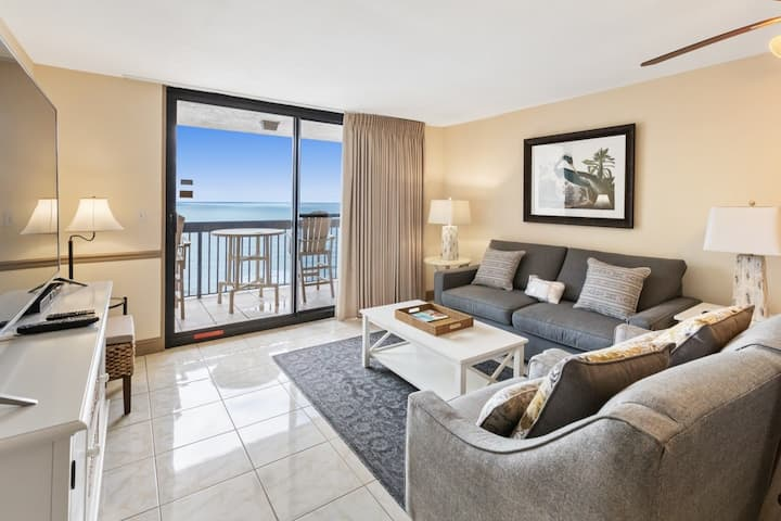 Spacious Oceanfront Condo with Shared Pools, Ocean View, WiFi, & Central AC!
