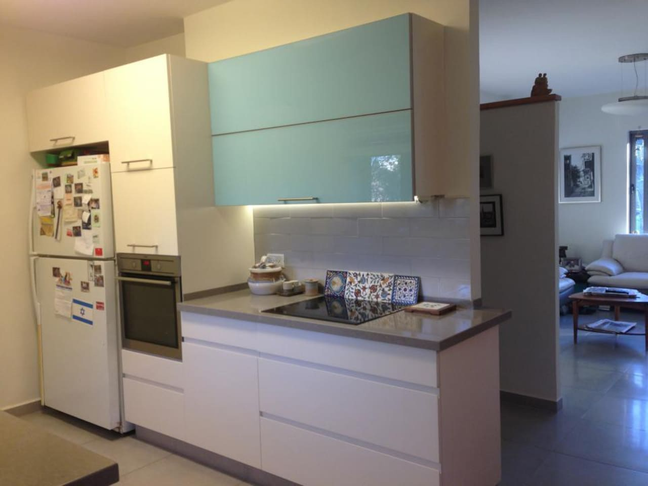 Recently renovated kitchen  including stove top, oven and dishwasher.