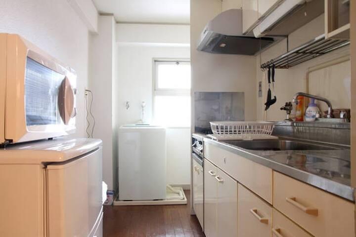 【中文・한글OK!】Osaka/Umeda/, direct access, free Wifi! - Kita-ku, Ōsaka-shi - Apartment