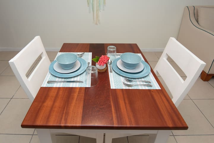 Mahogany dining table for two or four! :)