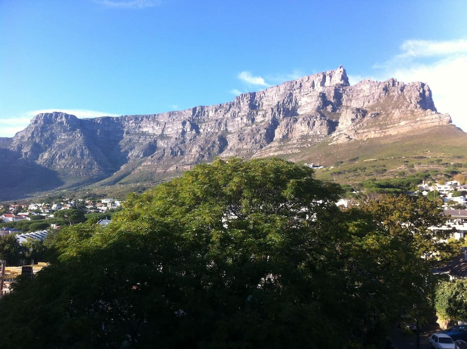Views of Table Mountain from the balcony