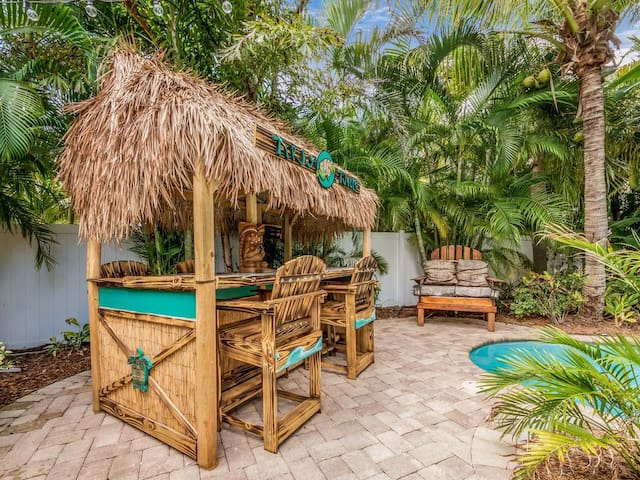 The Tipsy Turtle backyard tiki bar