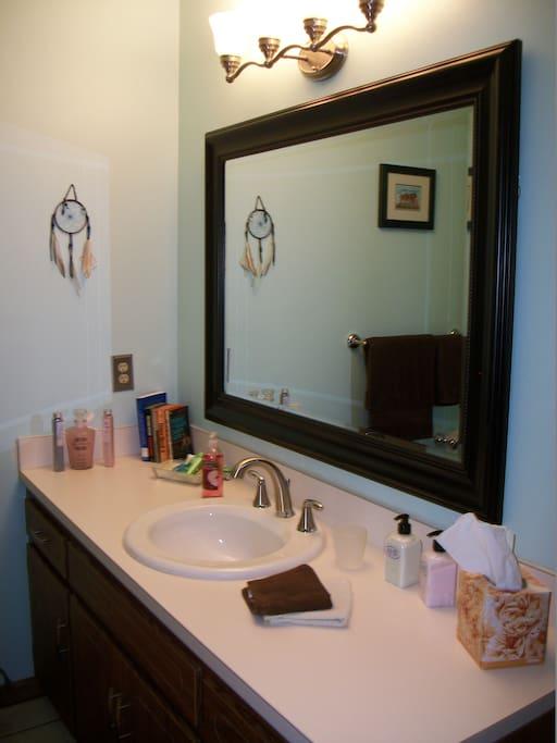 Spacious, private bathroom