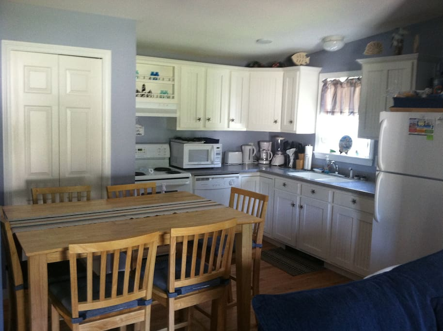 Kitchen with Full Size Washer and Dryer