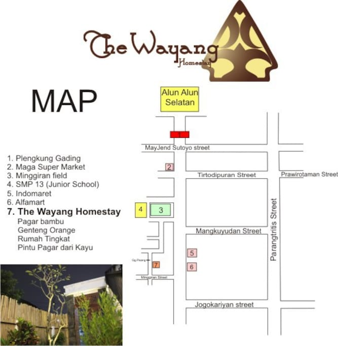 Map to the wayang homestay