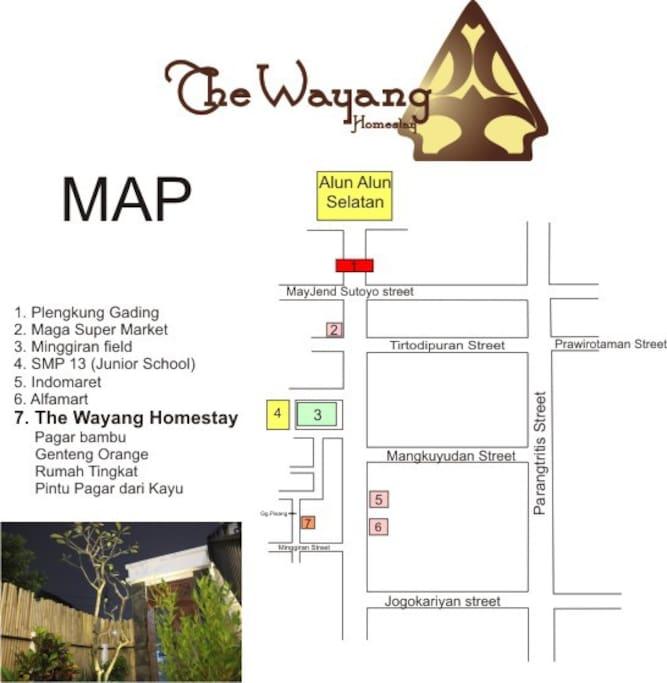 Map to the wayang homestay