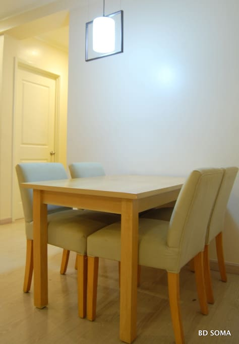 Dining area for 4 persons