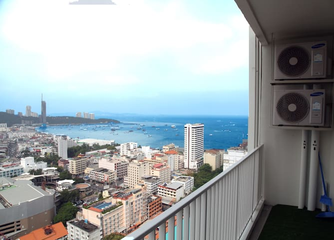 Select Ocean View One bedroom Large balcony - Muang Pattaya - Apartment