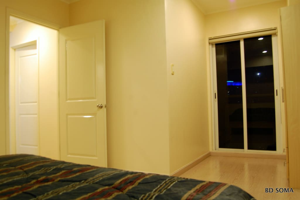 Master bedroom with balcony and toilet