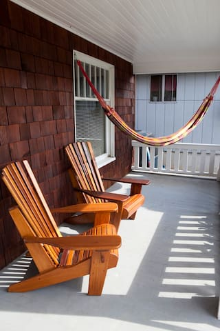 Front porch relaxation space