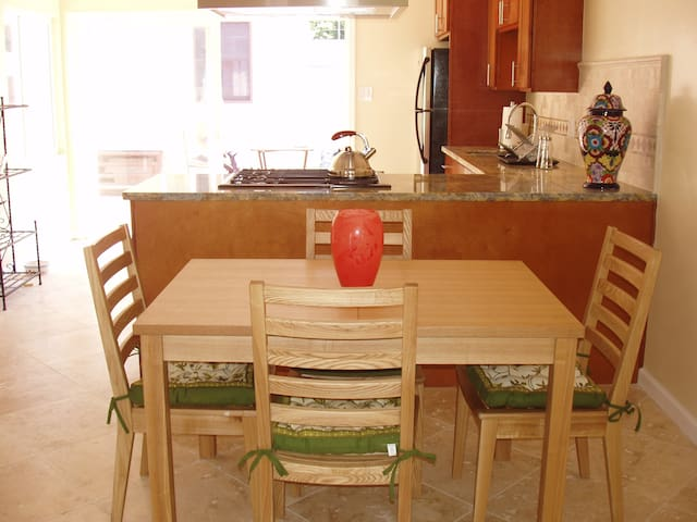 Dining area off the kitchen with seating for 4