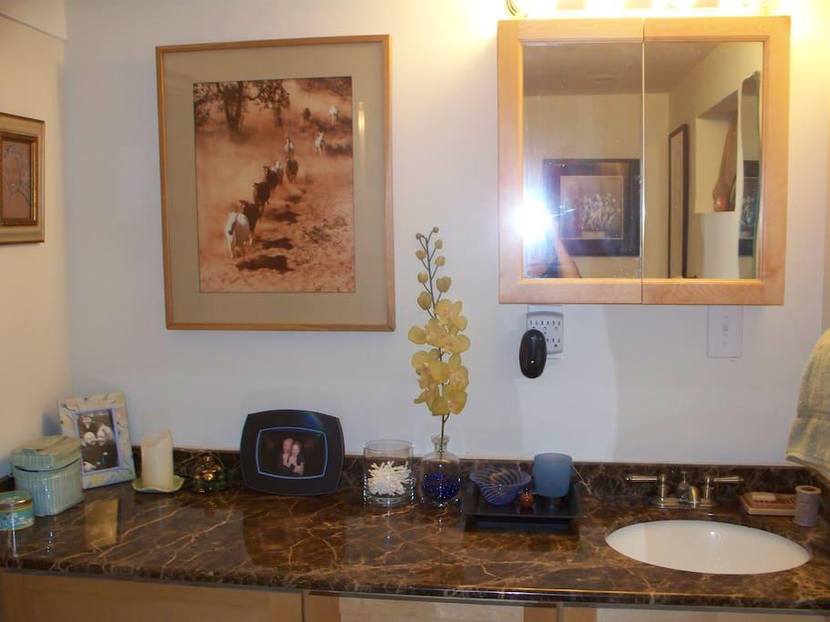 Bathroom Vanity/Big Enough for 3 Women
