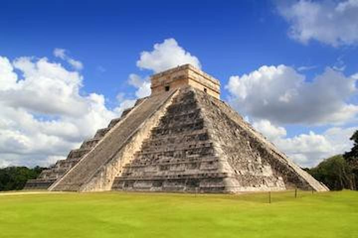 Chichen Itza is only a day trip away.