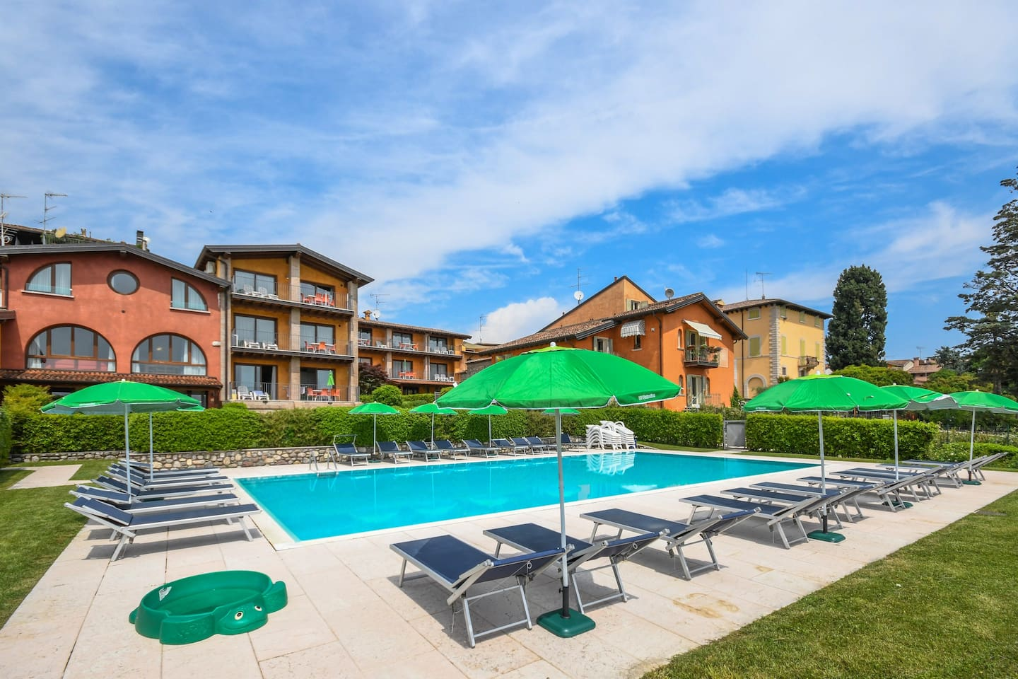 Sun loungers and parasols are at your disposal by the pool!
