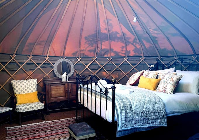 Yarlington Yurt situated within a Secluded Orchard