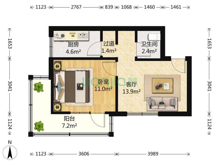 19年装修,首次出租的望京地铁出来就是的整租一居室,导航望京西园一区122楼,联通百兆宽带