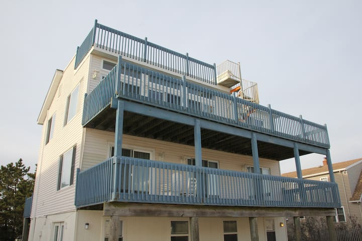 Sandy Haven 5/6 Bedroom Oceanfront House - Ship Bottom - Casa