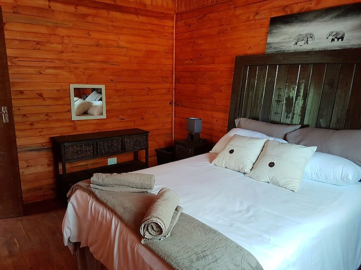 Log cabin in the bushveld