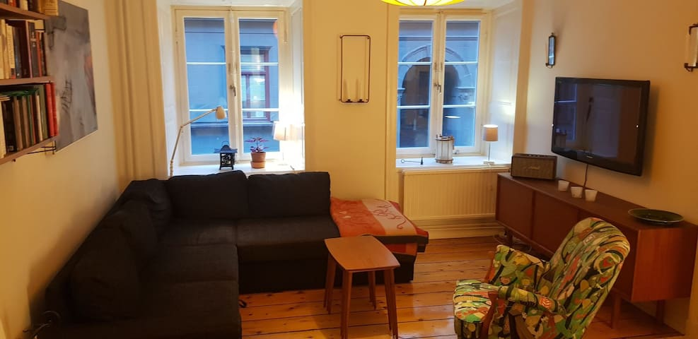 Room in cosy apartment in the heart of Södermalm