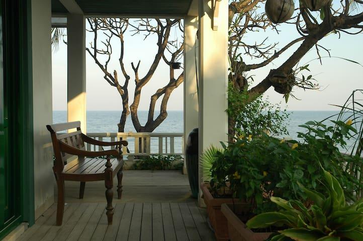 True beach front Villa