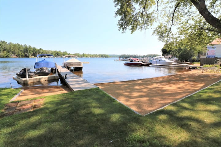 Winnisquam Waterside!  w/ Boat Dock, & Sandy Beach