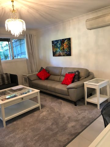 Reverse cycle air con in both living room and bed room!