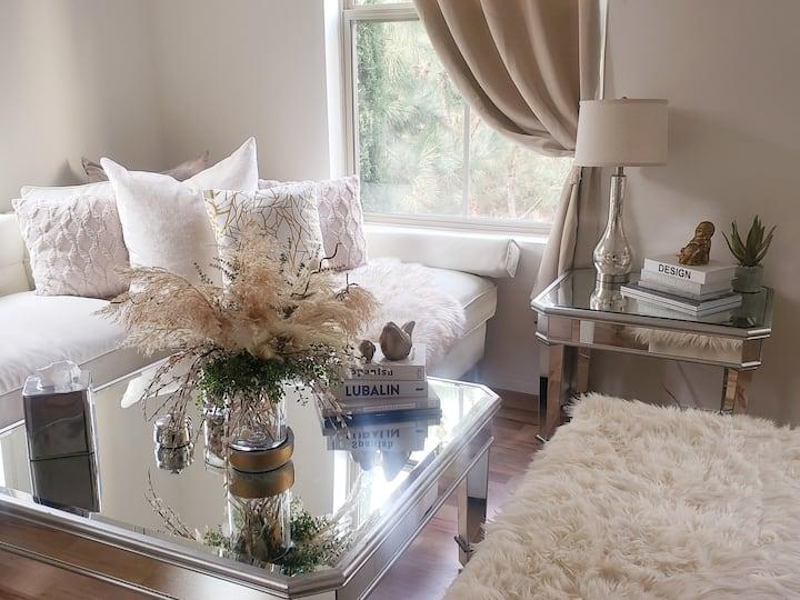 Luxury private bedroom at Irvine Spectrum