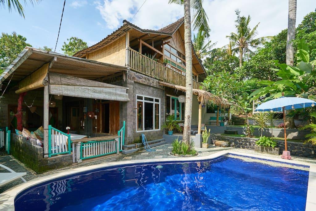 Balian beach unkonventionelles haus auf bali h user zur for Haus auf miete