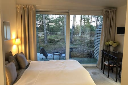 Modern guest house close to Stockholm