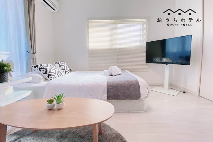 HY22 Stylish Studio Near Miyajima 8min train