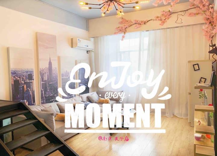 ★夫子庙老门东景区瞻园★,地铁沿线/位置极佳,北欧轻混搭,浪漫摩登公寓