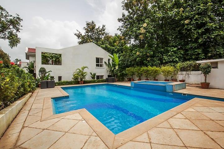 Bohemian-3BR PremiumVilla W/Pool Near Vagator @Goa