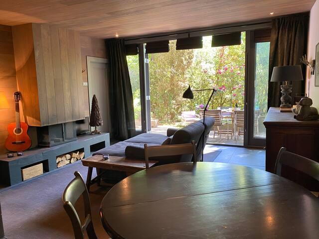 Byzonder luxe & smaakvolle bos-bungalow in Doorn